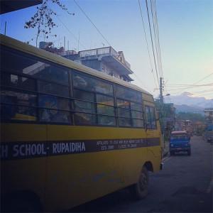 A school bus in Nepal